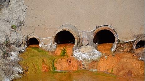 Drainage acide minier Salsigne