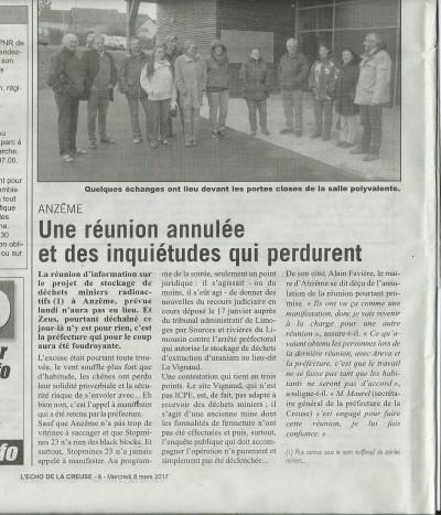 ANZEME L'ECHO de la Creuse 08.03.17